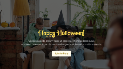 Halloween Family Party Website